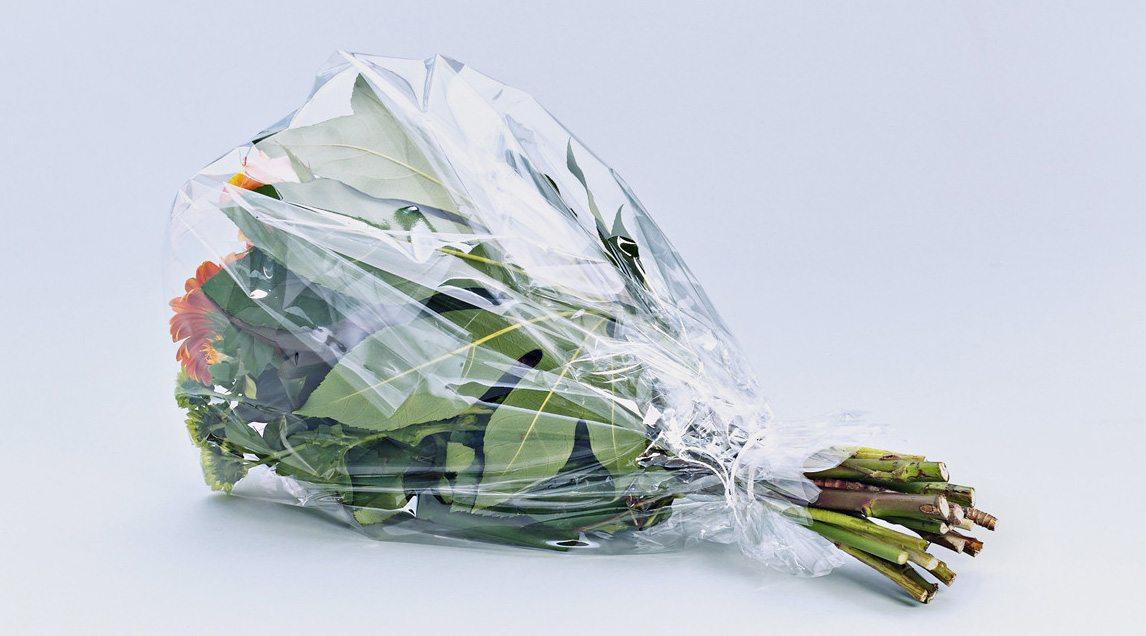 Blumenverpackung, Blumenfolie, Blumenpapier und Blumenseide