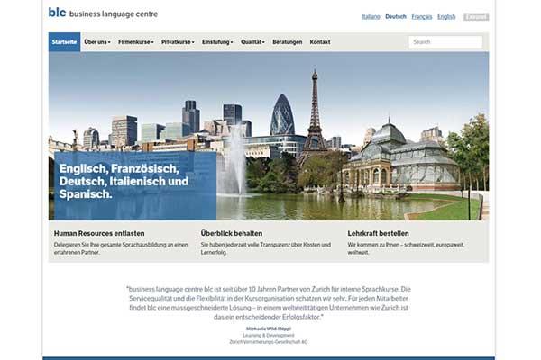 Die Sprachschule Business Language Center BLC hat Sprachkurszentren in Zürich und Bern und ist spezialisiert auf Sprachkurse von Mitarbeitern von KMU und Grossfirmen.