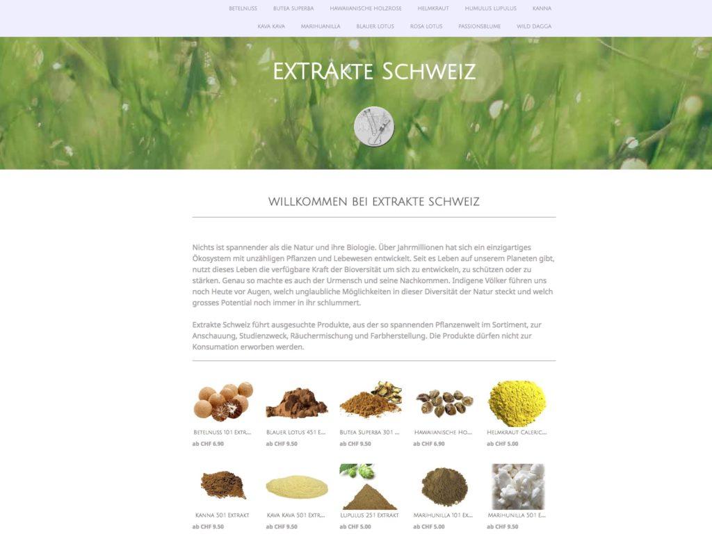 extrakte.ch ist der erste Schweizer Online Shop für Extrakte