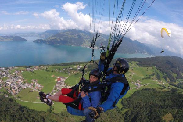 Tandemflug Tandem fliegen Zentralschweiz Luzern